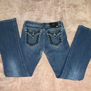 Size 28 Miss Me BLINGY Boot Cut Jeans - SEE PICS